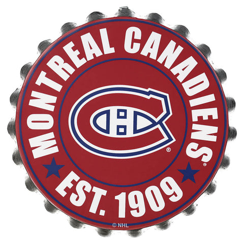FOREVER COLLECTIBLES MONTREAL CANADIENS BOTTLE CAP WALL LOGO