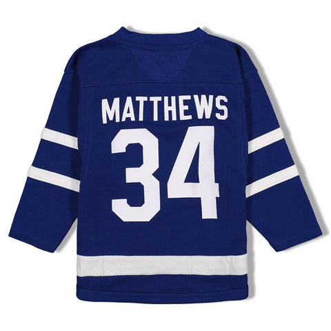 OUTERSTUFF 3T TORONTO MAPLE LEAFS REPLICA HOME JERSEY MATTHEWS BLUE