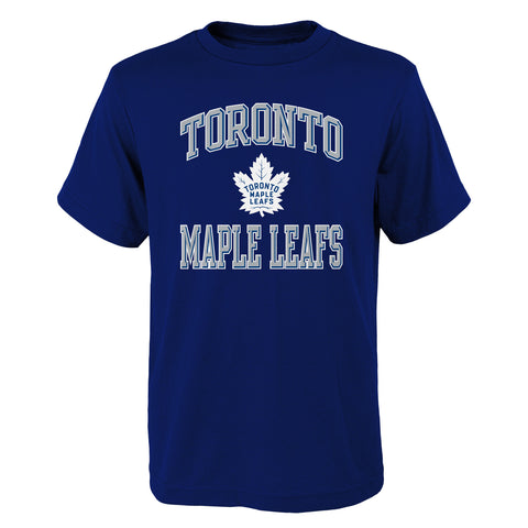 OUTERSTUFF YOUTH TORONTO MAPLE LEAFS OVATION SHORT SLEEVE BASIC TOP BLUE