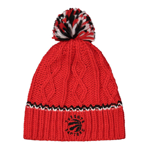 OUTERSTUFF GIRLS TORONTO RAPTORS CABLE KNIT CUFFLESS HAT