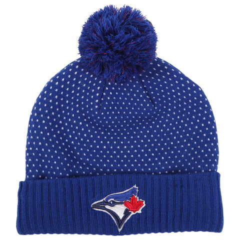 UNDER ARMOUR GIRLS TORONTO BLUE JAYS POM BEANIE BLUE