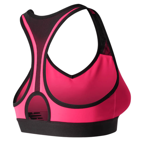 NEW BALANCE WOMEN'S NB PACE BRA ALPHA PINK