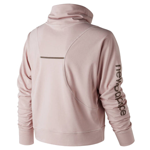 NEW BALANCE WOMEN'S FUNNEL NECK LAYER FADED ROSE HEATHER