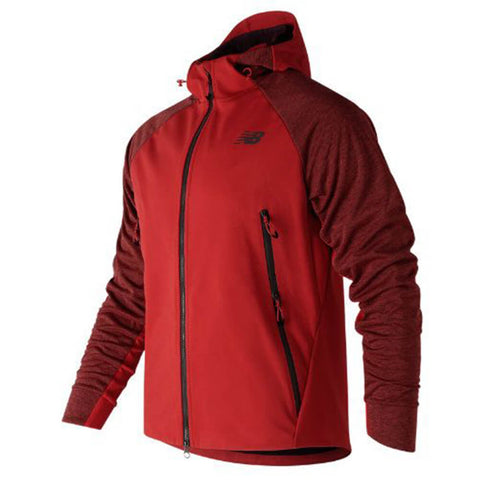 NEW BALANCE MEN'S HEAT HYBRID JACKET RED