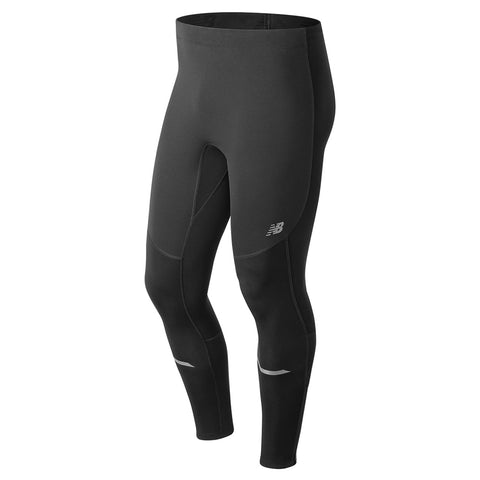 NEW BALANCE MEN'S WINDBLOCKER TIGHTS BLACK