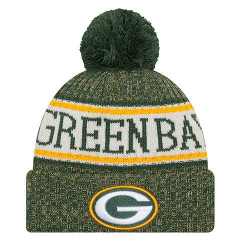 NEW ERA GREEN BAY PACKERS 2018 OFFICIAL COLD WEATHER SPORT KNIT BEANIE
