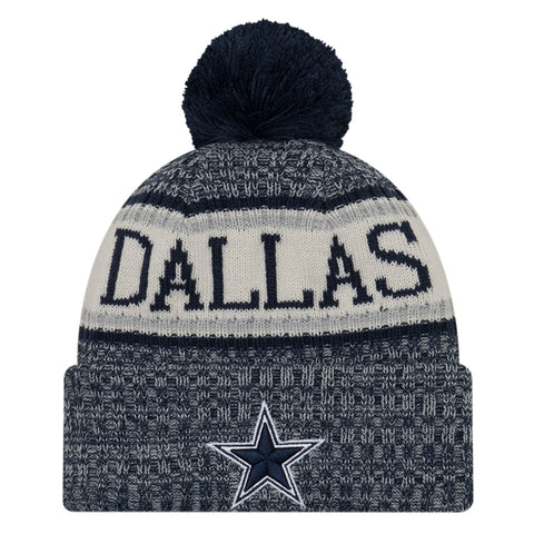 1ed3314ce43 NEW ERA DALLAS COWBOYS 2018 OFFICIAL COLD WEATHER SPORT KNIT BEANIE
