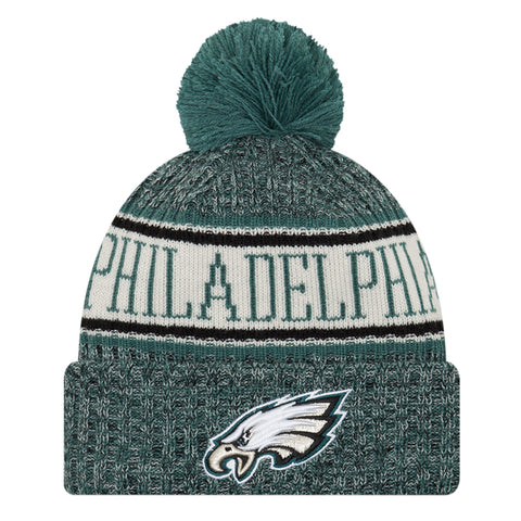 NEW ERA PHILADELPHIA EAGLES 2018 OFFICIAL COLD WEATHER SPORT KNIT BEANIE