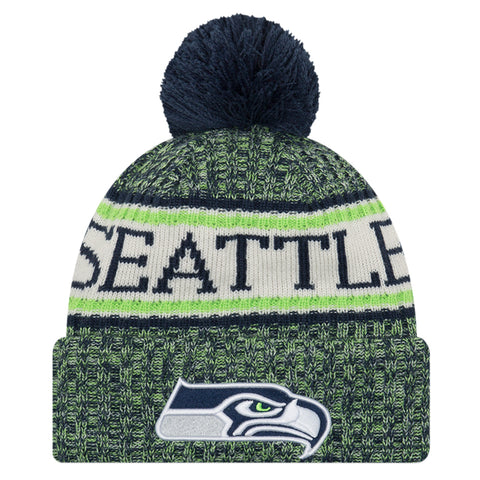 NEW ERA SEATLLE SEAHAWKS 2018 OFFICIAL COLD WEATHER SPORT KNIT BEANIE