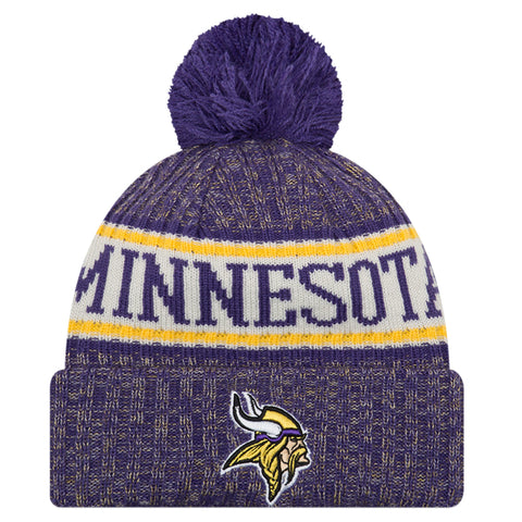 NEW ERA MINNESOTA VIKINGS 2018 OFFICIAL COLD WEATHER SPORT KNIT BEANIE