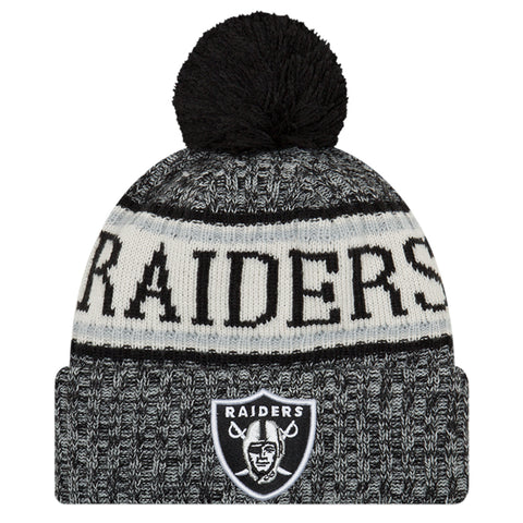 NEW ERA OAKLAND RAIDERS 2018 OFFICIAL COLD WEATHER SPORT KNIT BEANIE