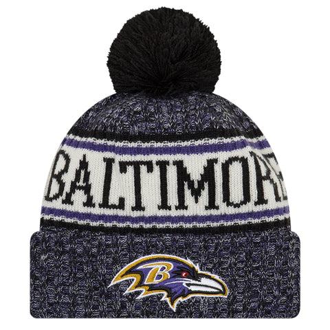 NEW ERA BALTIMORE RAVENS 2018 OFFICIAL COLD WEATHER SPORT KNIT BEANIE