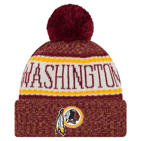 NEW ERA WAHINGTON REDSKINS 2018 OFFICIAL COLD WEATHER SPORT KNIT BEANIE