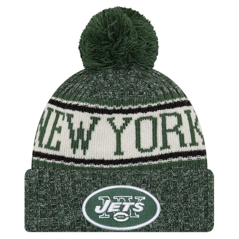 NEW ERA NEW YORK JETS 2018 OFFICIAL COLD WEATHER SPORT KNIT BEANIE