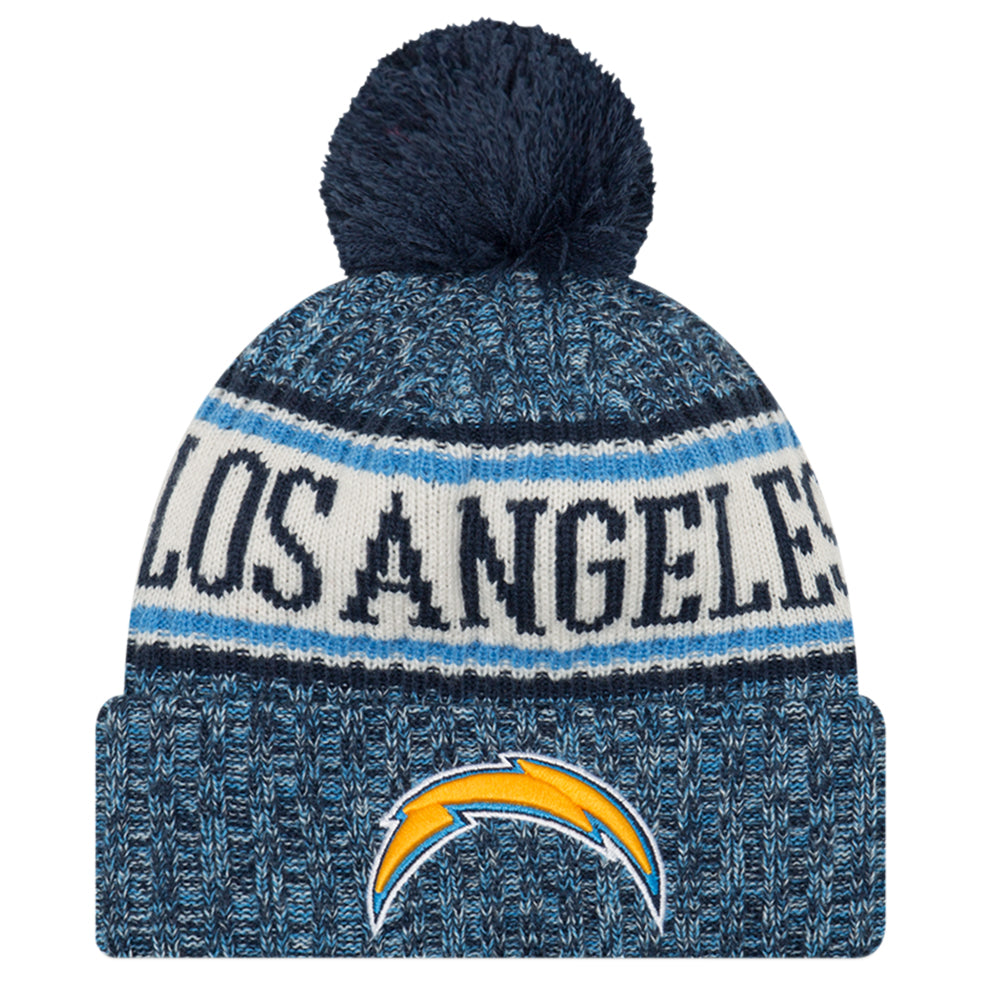 NEW ERA LOS ANGELES CHARGERS 2018 OFFICIAL COLD WEATHER SPORT KNIT BEANIE