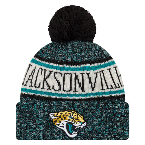 NEW ERA JACKSONVILLE JAGUARS 2018 OFFICIAL COLD WEATHER SPORT KNIT BEANIE
