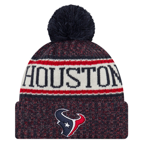 NEW ERA HOUSTON TEXANS 2018 OFFICIAL COLD WEATHER SPORT KNIT BEANIE