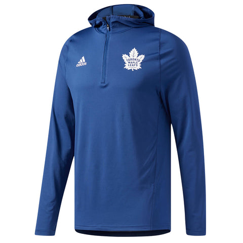 ADIDAS MEN'S TORONTO MAPLE LEAFS TRAINING HOODY BLUE