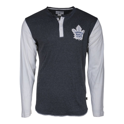 CCM MEN'S TORONTO MAPLE LEAFS LONG SLEEVE CONSTRUCTED TOP BLUE/WHITE