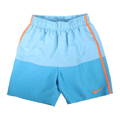 NIKE BOY'S SOLID SPLIT 6 INCH TRUNK LIGHT BLUE FURY