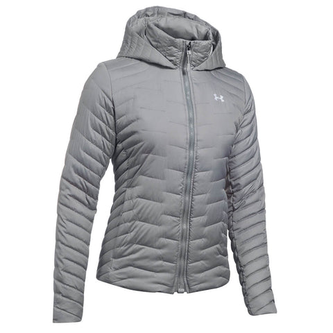 UNDER ARMOUR WOMEN'S CGR HOODED JACKET TRUE GRAY HEATHER