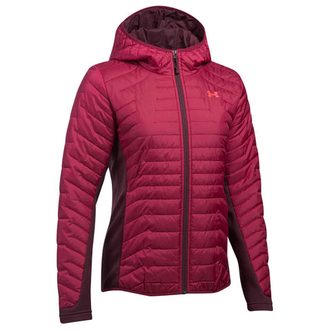 UNDER ARMOUR WOMEN'S CGR HYBRID JACKET BLACK CURRANT/RAISIN RED