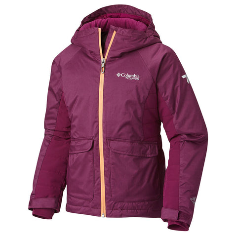 COLUMBIA GIRLS' PRO MOTION JACKET DARK RASPBERRY