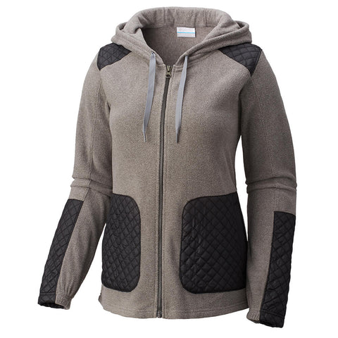 COLUMBIA WOMEN'S WARM UP HOODED FLEECE CHARCOAL HEATHER