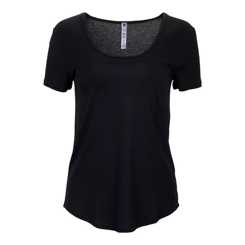 RIPZONE WOMEN'S NORI TEE EXTENDED SIZE BLACK