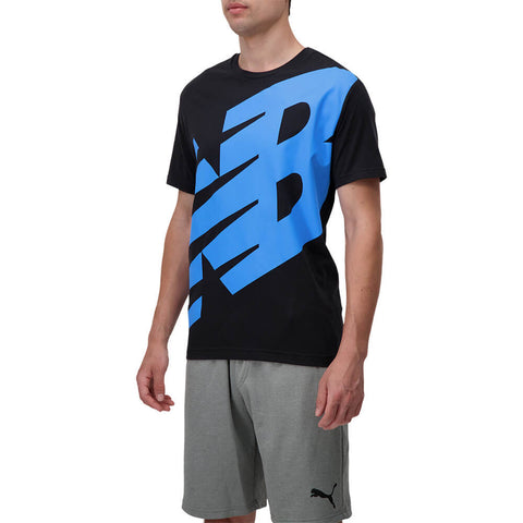 NEW BALANCE MEN'S CONTENDER GRAPHIC TOP BLACK