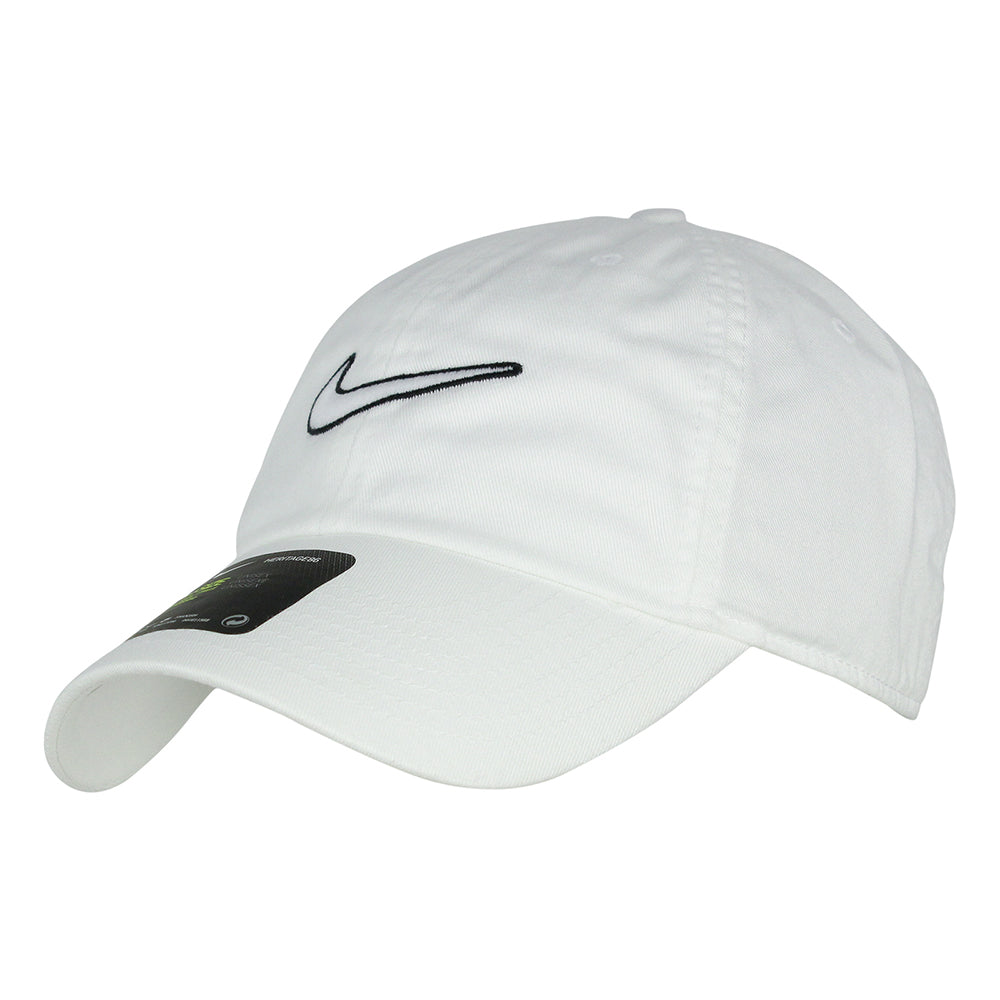 NIKE MEN S H86 ESSENTIAL SWOOSH CAP WHITE – National Sports 5c52b6735b1