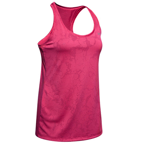 UNDER ARMOUR WOMEN'S TECH TANK MARBLE JACQRD IMPULSE PINK