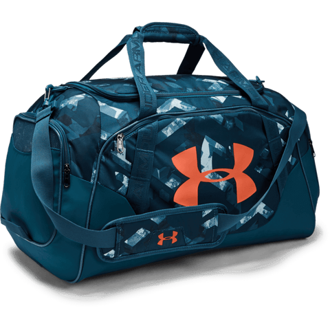 UNDER ARMOUR UNDENIABLE DUFFLE 3.0 MD PETROL BLU/PAPAYA PRINT