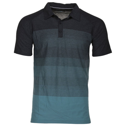 BURNSIDE MEN'S POLO CHARCOAL MIX
