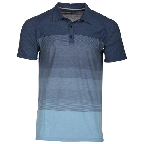 BURNSIDE MEN'S POLO NAVY MIX