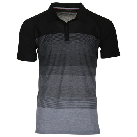 BURNSIDE MEN'S POLO BLACK
