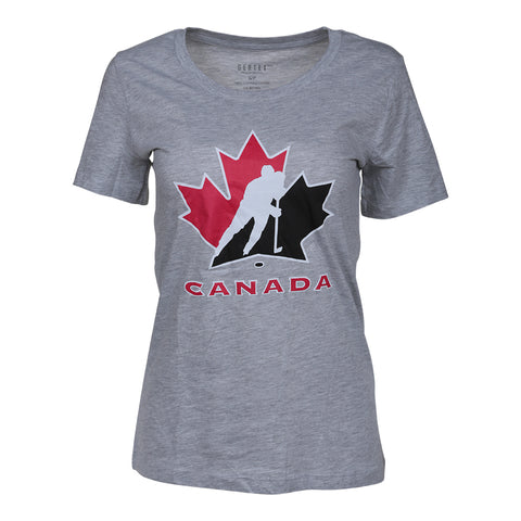 GERTEX WOMENS TEAM CANADA LOGO TOP HEATHER GREY