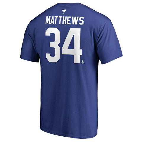 FANATICS MEN'S TORONTO MAPLE LEAFS MATTHEWS AUTHENTIC STACK TEE BLUE
