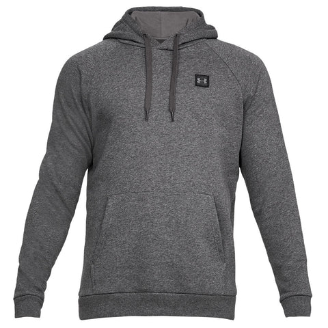 UNDER ARMOUR MEN'S RIVAL FLEECE HOODY CAHRCOAL LIGHT HEATHER/BLACK