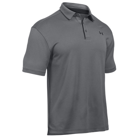 UNDER ARMOUR MEN'S TECH POLO GRAPHITE/BLACK