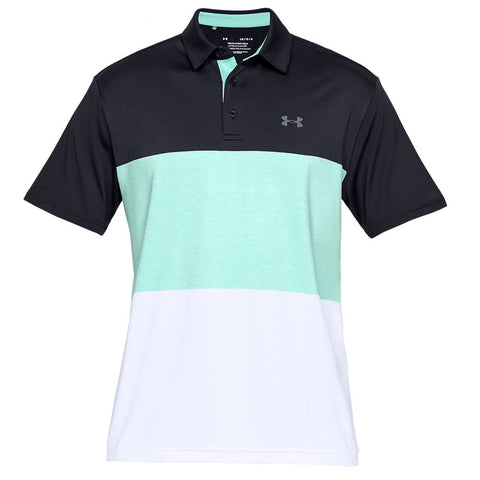 UNDER ARMOUR MEN'S PLAYOFF 2.0 POLO BLACK/PITCH GREY HERITAGE