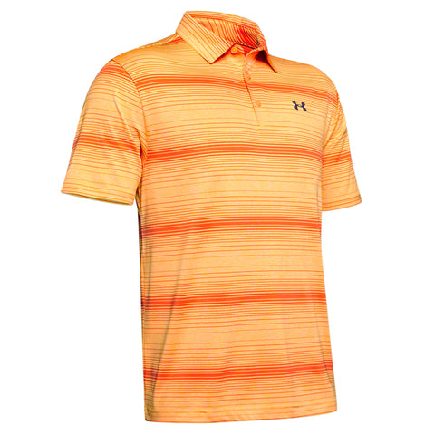 UNDER ARMOUR MEN'S PLAYOFF 2.0 POLO MANGO ORANGE/PAPAYA/PITCH GREY