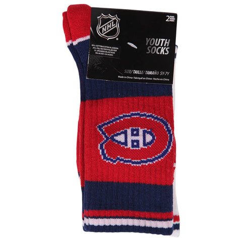 OUTERSTUFF YOUTH MONTREAL CANADIENS NHL 2 PACK SOCKS