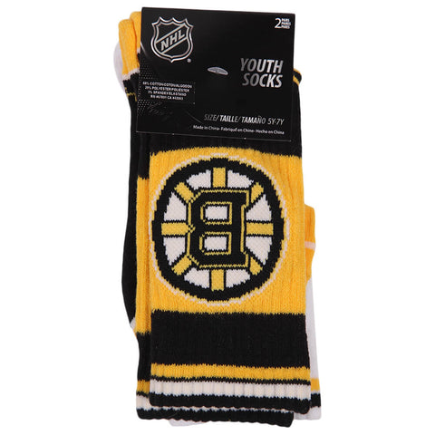 OUTERSTUFF YOUTH BOSTON BRUINS NHL 2 PACK SOCKS