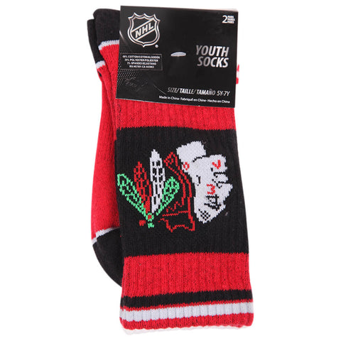 OUTERSTUFF YOUTH CHICAGO BLACKHAWKS NHL 2 PACK SOCKS