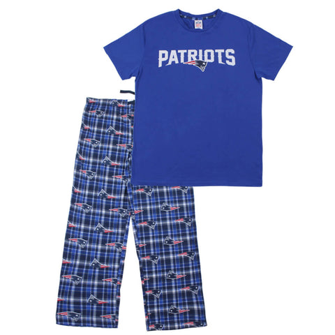 GERTEX MEN'S NEW ENGLAND PATRIOTS 2 PIECE PJ SET BLUE