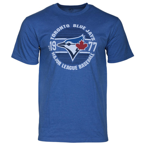BULLETIN ATHLETIC MEN'S TORONTO BLUE JAYS MLB129 SHORT SLEEVE TOP HEATHER CHARCOAL