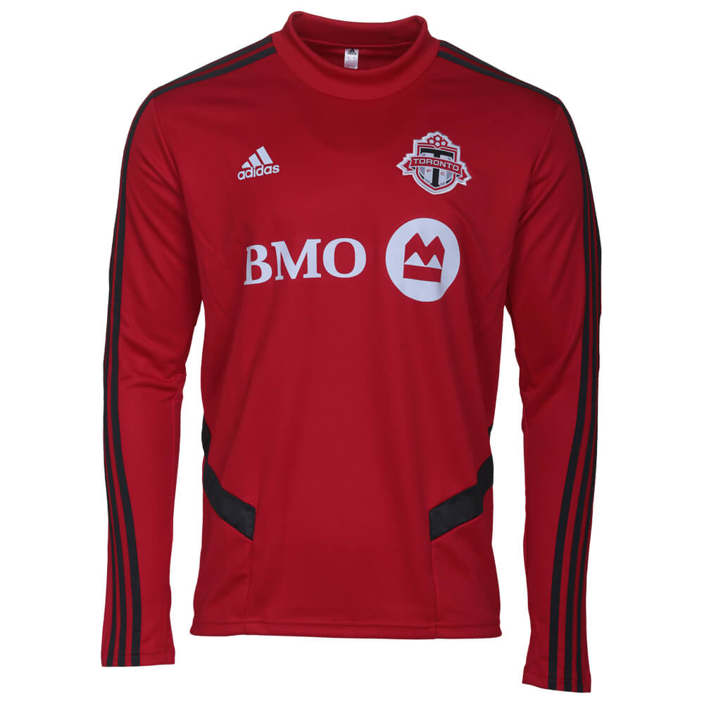 sports shoes 89c38 18e42 ADIDAS MEN'S TORONTO FC LONG SLEEVE TRAINING JERSEY RED