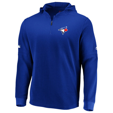 FANATICS MEN'S TORONTO BLUE JAYS AUTHENTIC BATTING PRACTICE WAFFLE HOOD ROYAL