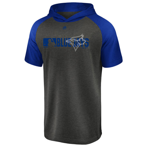 FANATICS MEN'S TORONTO BLUE  JAYS AUTHENTIC SHORT SLEEVE HOOD GREY/ROYAL
